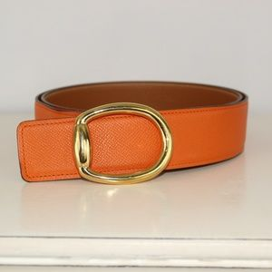 Hermes Mors oval reversible belt 42mm